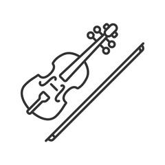 Violin linear icon