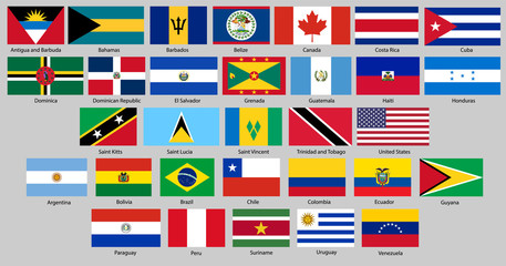 All flags of America