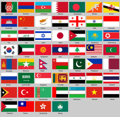 all flags of Asia