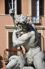 Statue of Neptune fountain, Rome, Italy