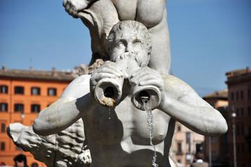Fountain statue detail inPiazza Navona, Rome