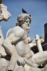Italian statue in Navona square, Rome.