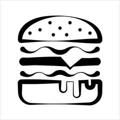 Burger Icon, Fast Food Burger