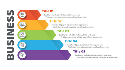 Pyramid infographic template with five elements. One from a set of vector illustrations.  Can be used for workflow layout, diagram, business step options, banner, web design.