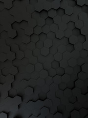 black hexagon background