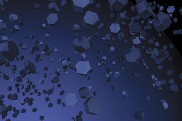 dark blue hexagon background