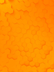 orange hexagon background