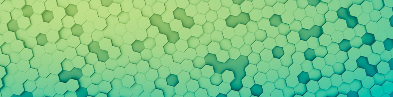 green hexagon background