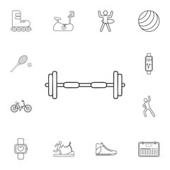 barbell icon. Detailed set of gym and fitness icons. Premium quality graphic design. One of the collection icons for websites, web design, mobile app