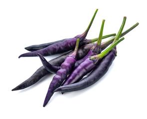 Purple chili on a white background.