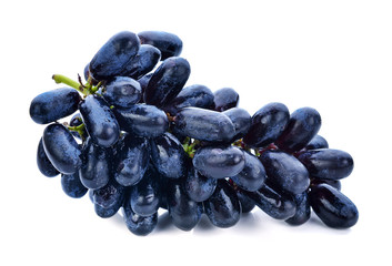 Black grapes isolated on a white background