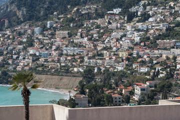 Dense housing in hillside, French Riviera