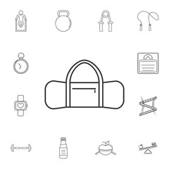 Sports bag icon. Detailed set of gym and fitness icons. Premium quality graphic design. One of the collection icons for websites, web design, mobile app