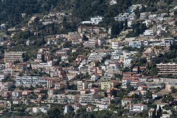 Dense housing in hillside, French Riviera