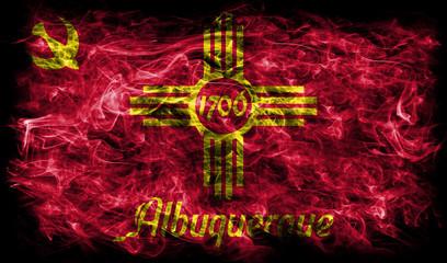 Albuquerque city smoke flag, New Mexico State, United States Of America