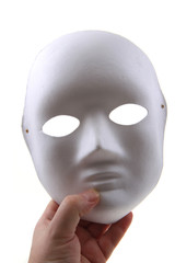 white paper mask isolated