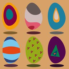 Happy Easter eggs, Vector illustration.