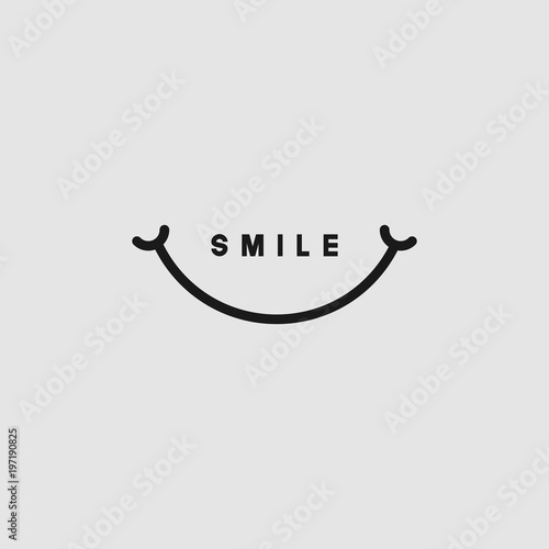 smile vector template design stock image and royalty free vector