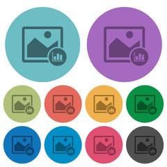 Image histogram color darker flat icons