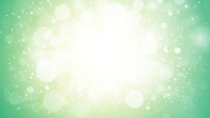 Soft Green glitter sparkles rays lights bokeh Festive Elegant abstract background.