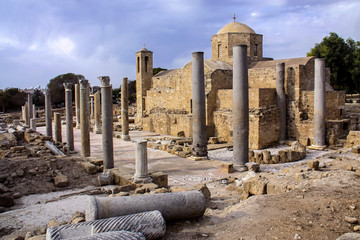 Aluminium Prints Ruins Archaeological Sites of Pafos, Cyprus