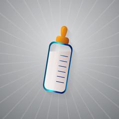 Baby Bottle Milking Feeding Icon Realistic Vector
