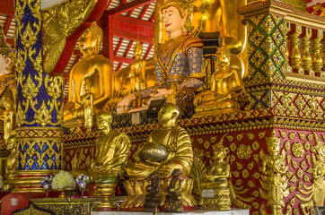Wat Suan Dok  Buddhist Temple In Chiangmai Thailand.