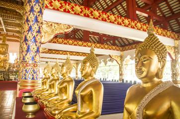 Wat Suan Dok  Buddhist Temple In Chiangmai Thailand.