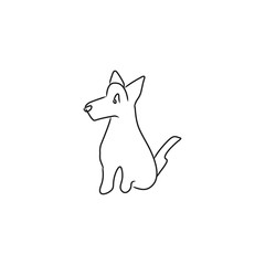 Abstract Doodle dog