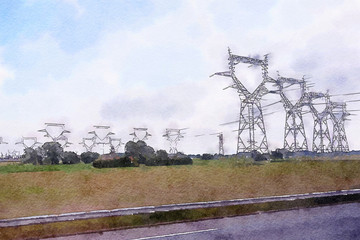 electricity and landscape