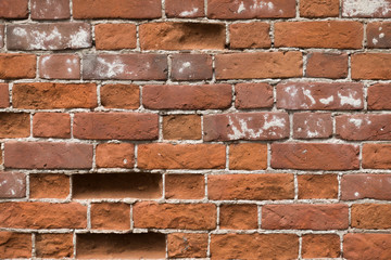 Photo of red brick wall.