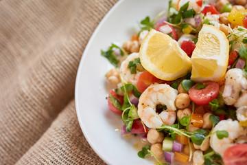 Peruvian Shrimp Salad - Ensalada de late y Camaron