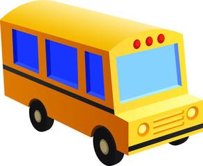 School bus toy style vector image