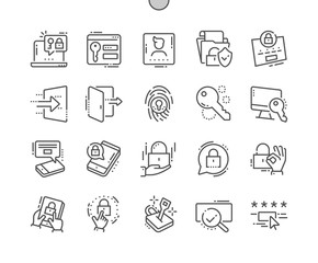Login Well-crafted Pixel Perfect Thin Line Icons 30 2x Grid for Web Graphics and Apps. Simple Minimal Pictogram