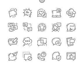 Messages Well-crafted Pixel Perfect Vector Thin Line Icons 30 2x Grid for Web Graphics and Apps. Simple Minimal Pictogram