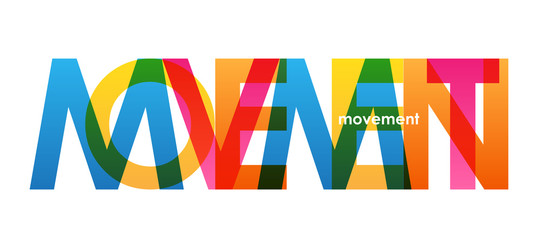 MOVEMENT Colorful Letters Icon