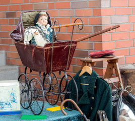old baby stroller.