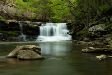 peaceful water fall