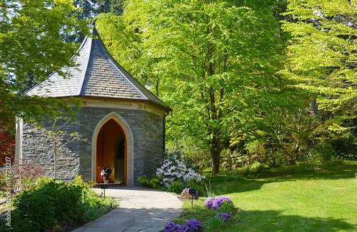 Brick gazebo in Meerkerk Gardens, Washington State\
