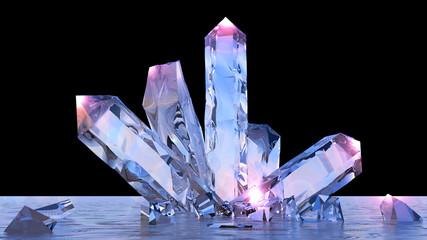 Formazione mineraria, minerali, quarzo, gemme, diamanti