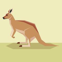 Flat design Kangaroo