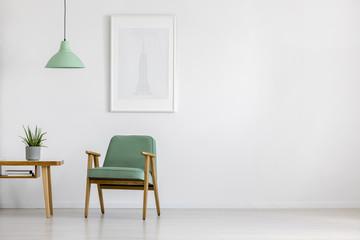 Fototapeta Retro armchair in bright interior obraz
