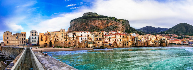 Italian holidays - beautiful coastal town Cefalu in Sicily