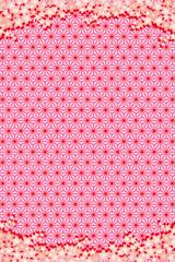 背景素材壁紙,桜の花,満開,入学,卒業,年賀状,正月,和風,成人式,麻の葉,新春,新年,年始,賀正