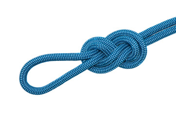 knot eight of blue rope