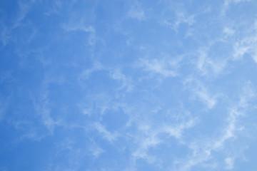 Light cumulus clouds in the blue sky.