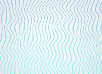 Abstract of gradiene sea blue lines wave in pattern, soft white of rough surface