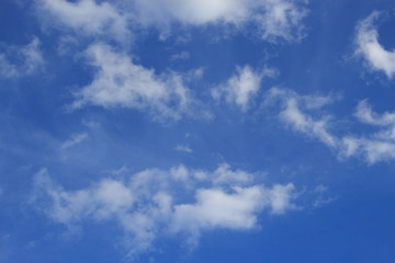 Clouds in the blue sky.