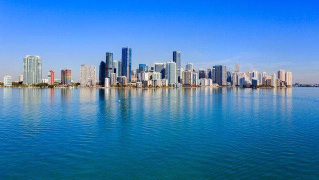 Brickell Skyline, Miami Coastline High Rise Buildings