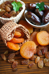 dry apricots and various dry fruits